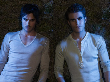 Brooding brothers Stephan and Damon have a lot in common...like Elena