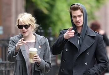 Emma and Andrew greet photogs in NYC