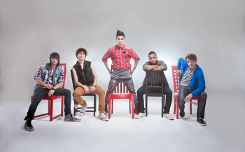Anthony Ladao, Colton Rudloff, Eric Secharia, Joey Diggs, and Thomas Augusto make up Midnight Red