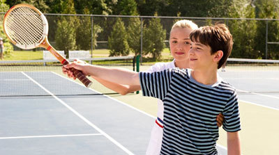 """Looks like Greg is trying to score """"love"""" in this tennis match!"""