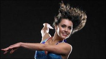 Kathryn in full dance mode