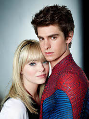 Andrew as Spidey with Emma as Gwen