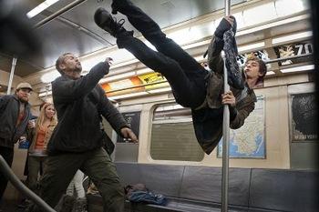 Peter Parker (Andrew Garfield) in swingin' action