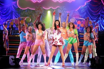 Katy in her opening tour number