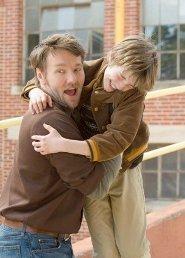CJ as Timothy with dad Joel Edgerton