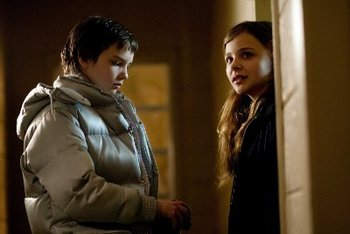 """A younger Kodi with Chloe Moretz in """"Let Me In"""""""
