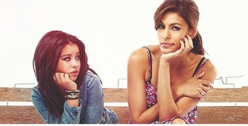 "With Eva Mendes in ""Girl in Progress"""