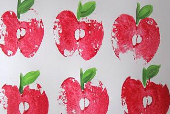 Apple Stamp Your School Supplies