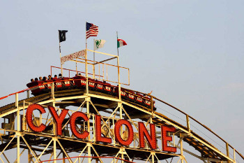 The Cyclone on Coney Island opened in 1927