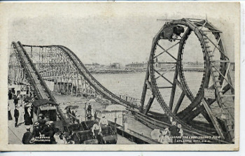 The first American roller coasters were scenic tours using railway tracks