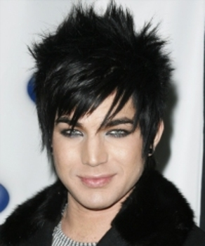 Adam Lambert shows that spikes don't need to be crunchy or stiff