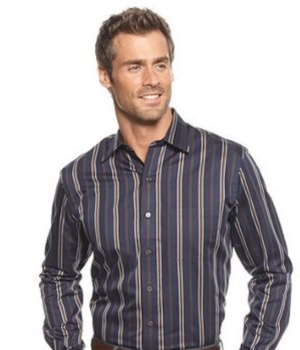 Vertical stripes make shorter guys appear taller