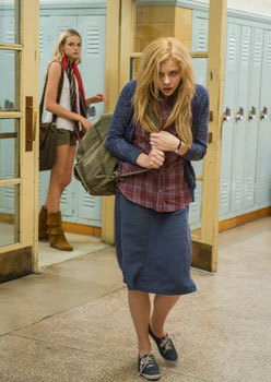 Shy Carrie at school