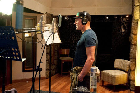 Woody recording voice of Jake
