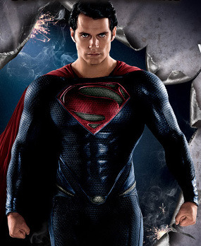 Hunky poster of Henry as Superman