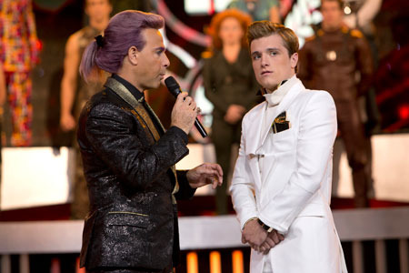 Caesar Flickerman and Peeta Mellark