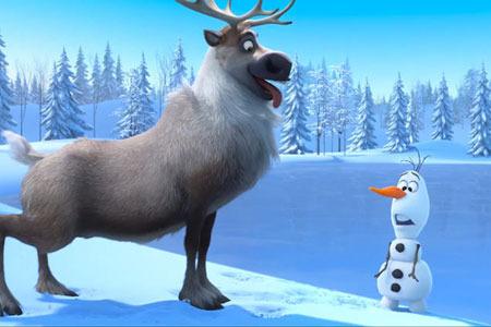 Adorable Sven and Olaf