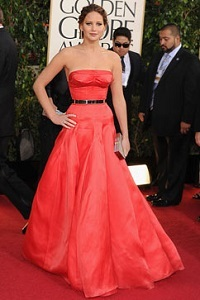 Jennifer Lawrence: her dress was on fire -- no special effects needed
