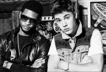 Usher and Justin Bieber are BFFs who make beats together