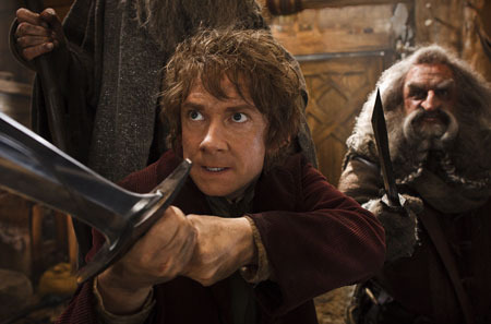 Bilbo in the home of skin-changer Beorn