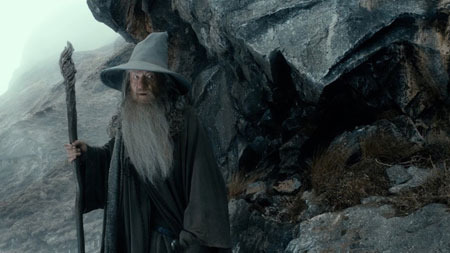 Gandalf nears the lair of the Necromancer