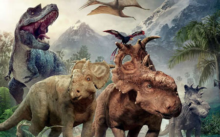 A Gorgosaurus, Juniper and Patchi