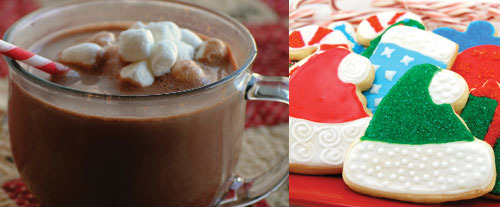 Hot Cocoa and Cookies are delicious holiday treats!