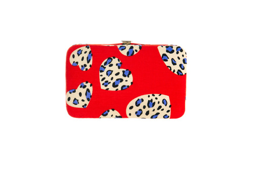 Leopard heart phone wallet, $16