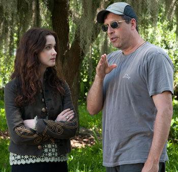 Alice on set with her director Richard LaGravenese