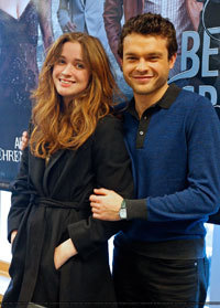 Alice and Alden at a premiere