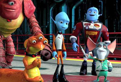 Gary (center), Scorch and alien pals