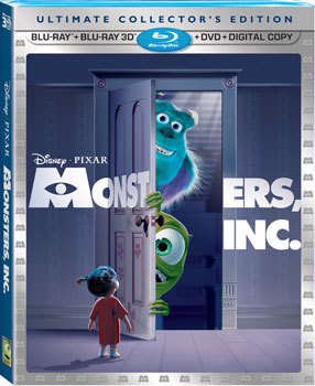 Monsters, INC 3D on blu-ray