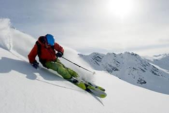 Skier at mach speed