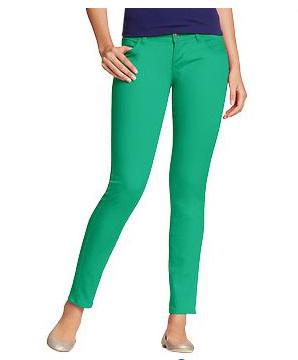Old Navy green jeans, $15