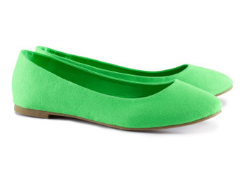 H and M Green Ballet Flat