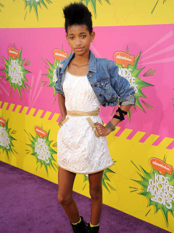 Willow channeled her inner rock star for this look