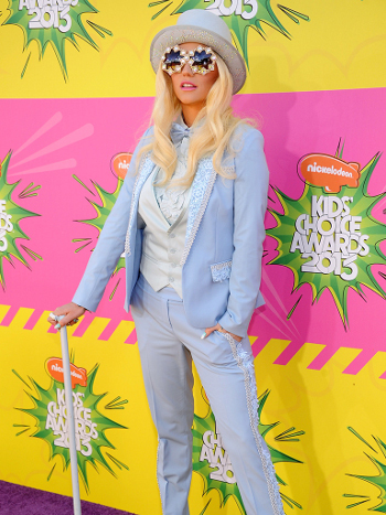 Ke$ha is in a category of her own in this getup
