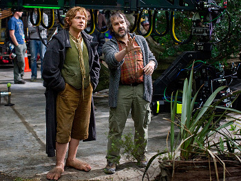 Martin Freeman and Director Peter Jackson