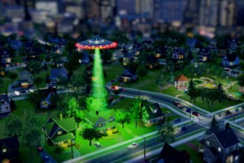 A UFO sighting in SimCity!