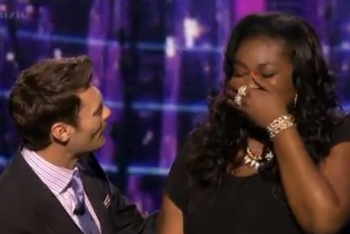 Candice Glover with Ryan Seacrest