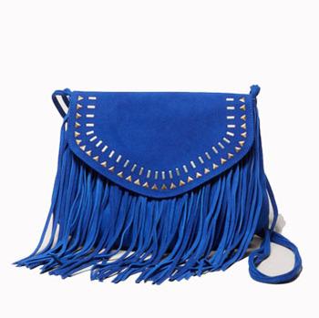 American Eagle fringed bag, $39