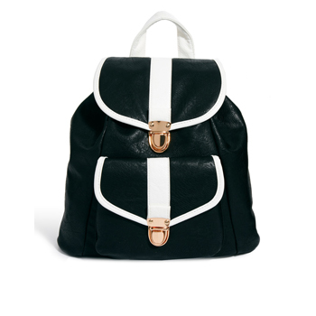 New Look monochrome backpack, $26