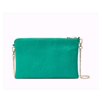 Forever 21 teal chain bag, $16