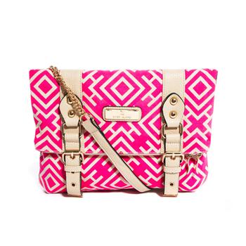 River Island bright pink satchel, $40