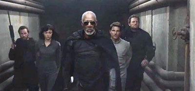 Morgan leads the humans