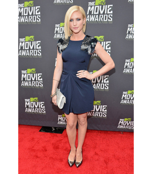 Brittany Snow wows in navy and black