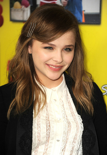 All you need are 3 bobby pins to get Chloe's simple hair look.