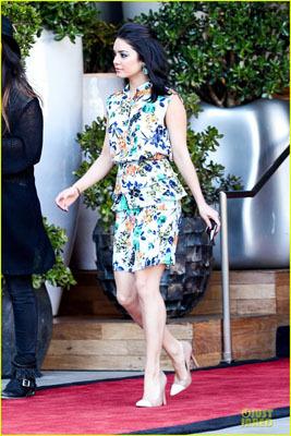 Vanessa Hudgens looks fab in demure florals