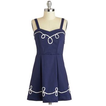 Modcloth navy dress, $50