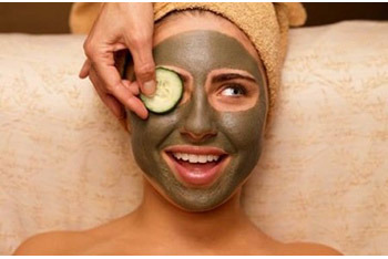 Don't worry how silly you may look! Just place cucumbers over your eyes, and relax while the mask does the hard work